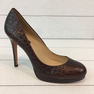 Ann Taylor Faux Crocodile Pumps